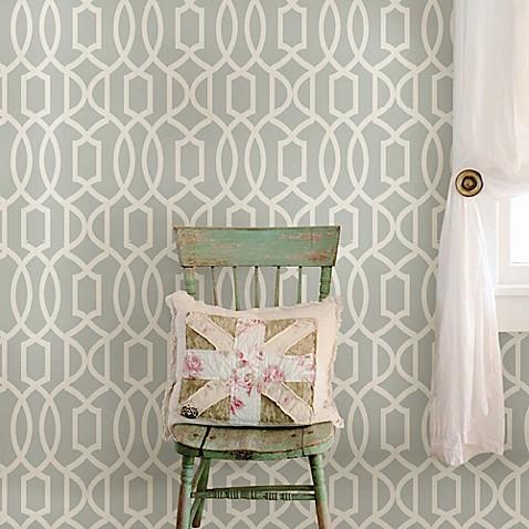 Wall decor wallpops nuwallpaper grand trellis peel for Beyond the wall mural design