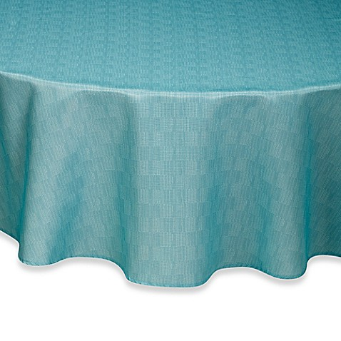 Buy Mason 70 Inch Round Umbrella Tablecloth In Aqua From