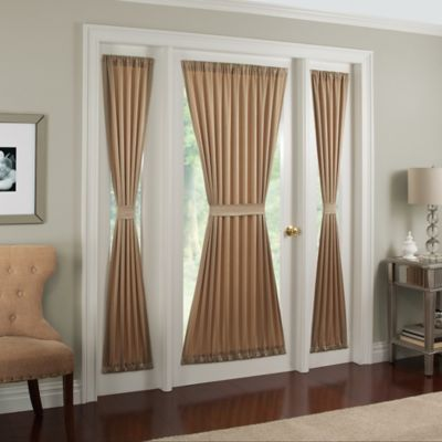 midtown rod pocket door panel. Black Bedroom Furniture Sets. Home Design Ideas