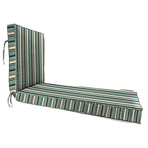 Sunbrella 68 inch x 24 inch chaise lounge cushion in for Chaise candie life