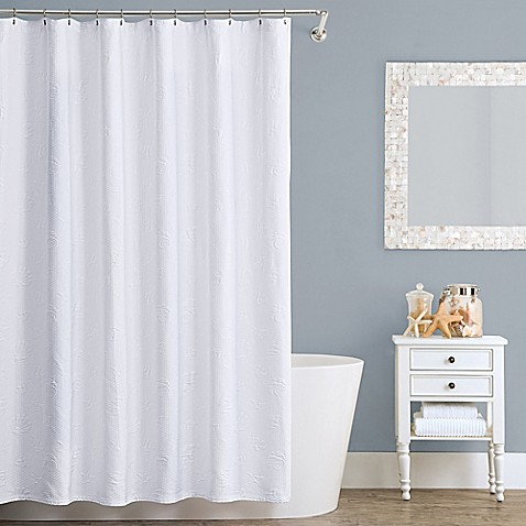 Buy Lamont Home Seaspray 54 Inch X 78 Inch Cotton Stall Shower Curtain From Bed Bath Beyond