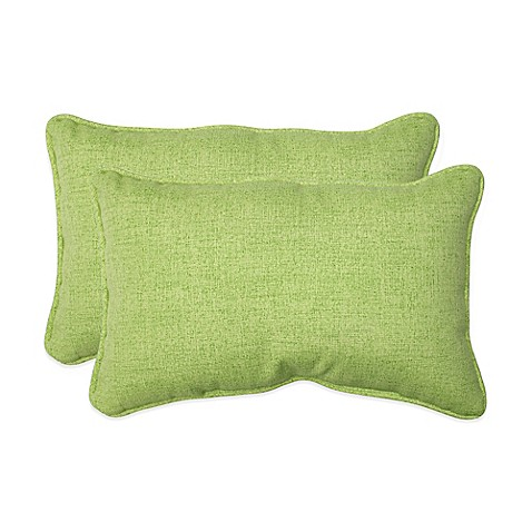 Baja Lime Green Oblong Throw Pillows Set Of 2 Bed Bath