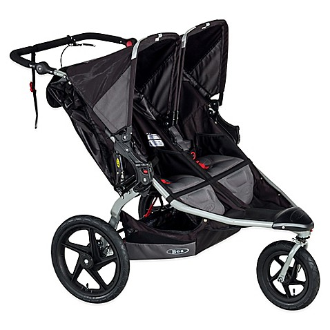 bob revolution pro duallie double stroller in black. Black Bedroom Furniture Sets. Home Design Ideas