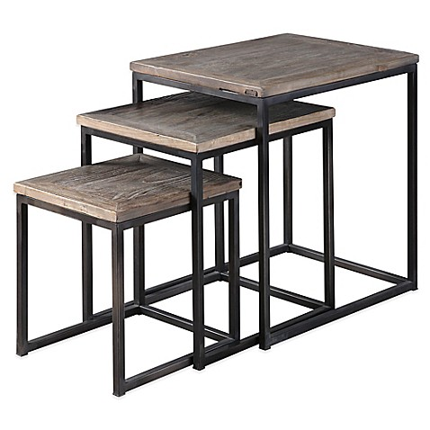 Buy Uttermost Bomani 3 Piece Wood Nesting Tables Set In