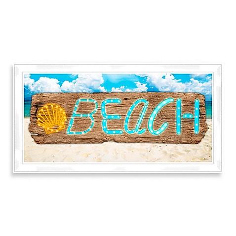 Led beach sign wall d cor bed bath beyond for Decoration bed bath and beyond