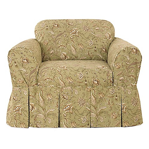 Buy Sure Fit Fanciful Floral By Waverly Chair Slipcover