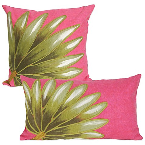 Liora Manne Palm Fan Outdoor Throw Pillow in Hot Pink - Bed Bath & Beyond
