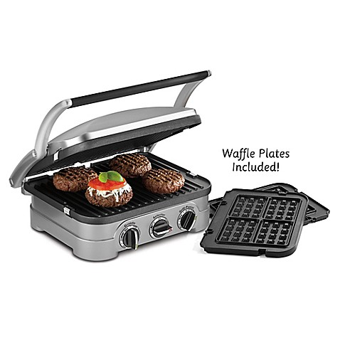 Cuisinart griddler panini press bed bath beyond - Health grill with removable plates ...