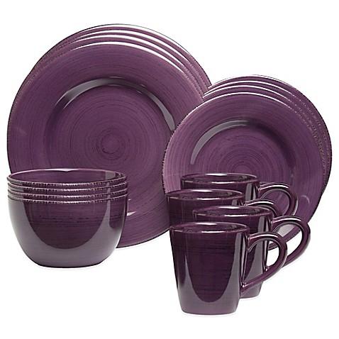 Sonoma 16 Piece Dinnerware Set In Purple Bed Bath Amp Beyond