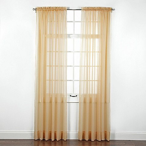 Buy Elegance Sheer 84 Inch Window Curtain Panel In Gold