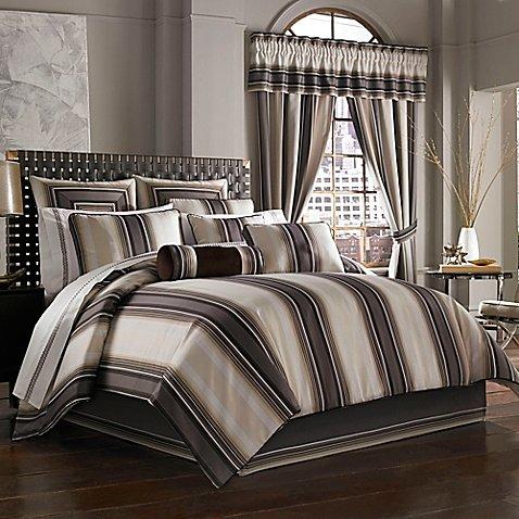 J Queen New York Bennington Comforter Set In Platinum