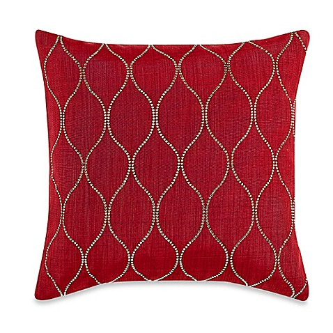 Myop Throw Pillow Covers : MYOP Genie Square Throw Pillow Cover in Red/Gold - BedBathandBeyond.com
