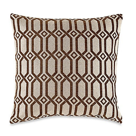 Buy MYOP LaLa Grecian Link Square Throw Pillow Cover in Bark from Bed Bath & Beyond