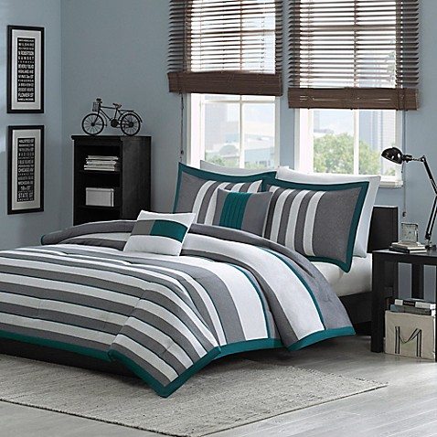 Intelligent Design Sven Reversible Comforter Set In Teal by Bed Bath And Beyond