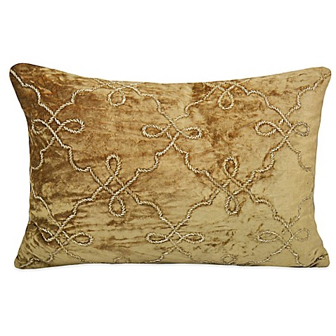 Velvet Crystal Beaded Trellis Throw Pillow at Bed Bath & Beyond in Cypress, TX | Tuggl