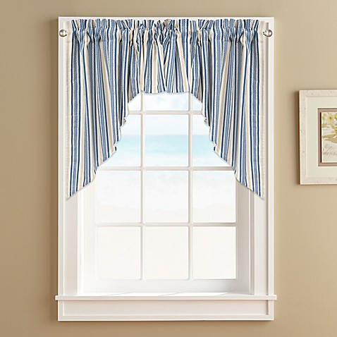 Ropes Window Curtain Swag Valance In Blue Bed Bath Beyond