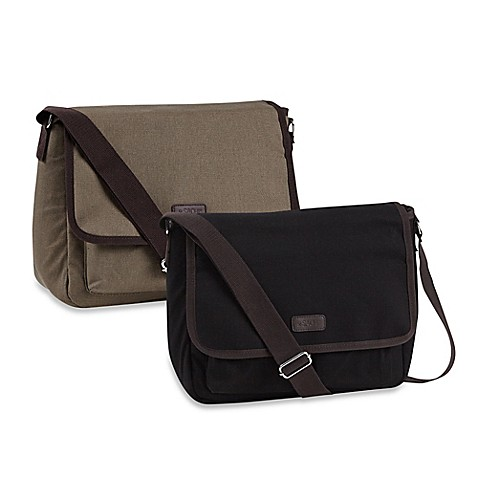 Sachi Canvas Messenger Insulated Lunch Tote Bed Bath