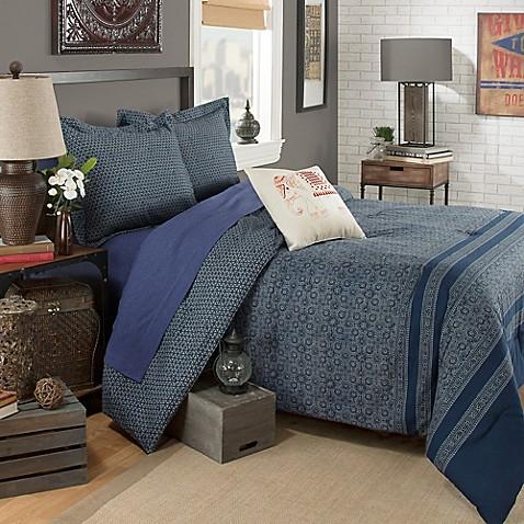 Brooklyn Flat Indira Comforter Set in Blue at Bed Bath & Beyond in Cypress, TX   Tuggl