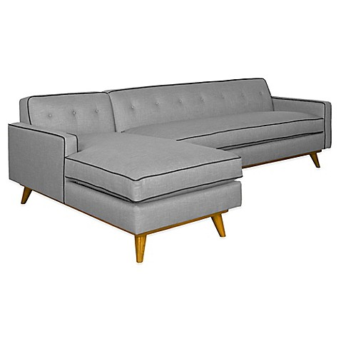 Kyle Schuneman for Apt2B Clinton 2-Piece Left Arm Facing Sectional in Grey with Coal Piping at Bed Bath & Beyond in Cypress, TX | Tuggl