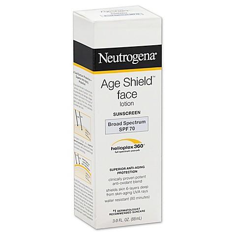Neutrogena 174 Age Shield 3 Oz Face Lotion Sunscreen Broad