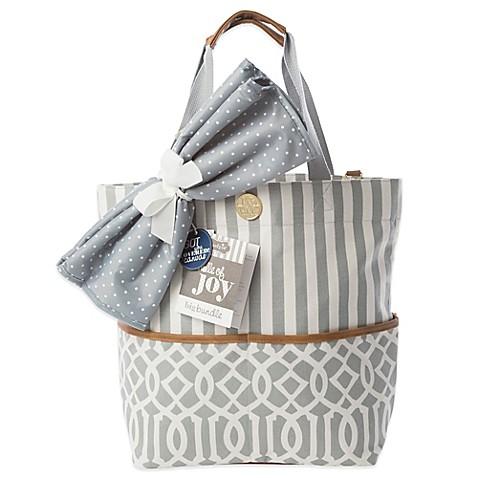 mud pie bundle of joy big bundle on the go tote diaper bag in grey. Black Bedroom Furniture Sets. Home Design Ideas