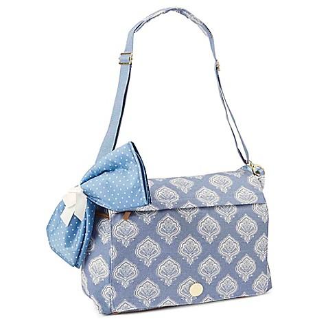 buy mud pie bundle of joy jaipur messenger diaper bag in blue from bed bath beyond. Black Bedroom Furniture Sets. Home Design Ideas
