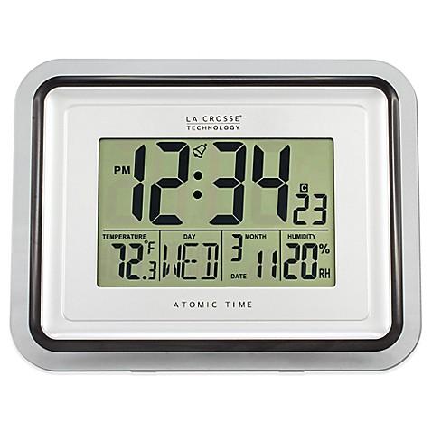 la crosse technology clear frame atomic digital wall clock