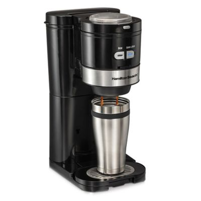 Grind And Brew Coffee Maker Bed Bath And Beyond : Hamilton Beach Grind and Brew Single Serve Coffee Maker - Bed Bath & Beyond