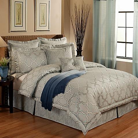 Austin Horn En Vogue Glamour Comforter Set In Spa Blue