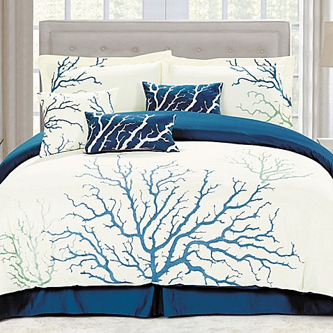 Panama Jack Coral Comforter Set In Blue Bed Bath Amp Beyond
