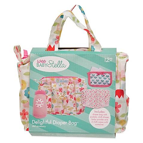 Manhattan Toy 174 Wee Baby Stella Delightful Diaper Bag Bed