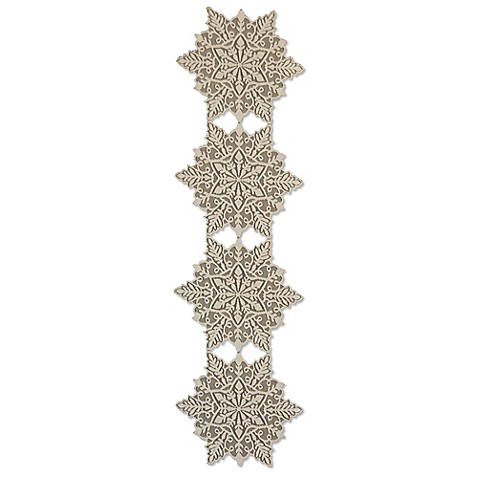 Buy heritage lace silver snowflake 15 inch x 52 inch for Table runners 52 inches