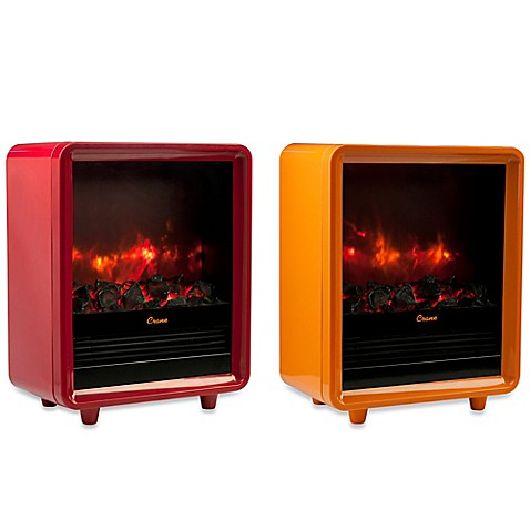 Crane mini fireplace heater bed bath beyond for Living room heater
