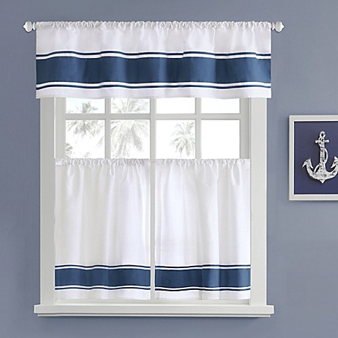 Harbor House Sailor Window Curtain Tier Pair In White Bed Bath Beyond