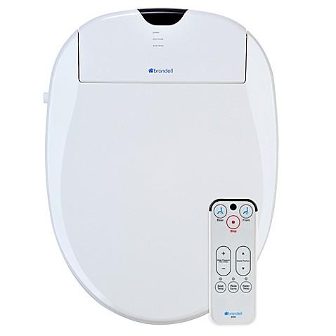 brondell swash bidet toilet seat in white bed bath beyond