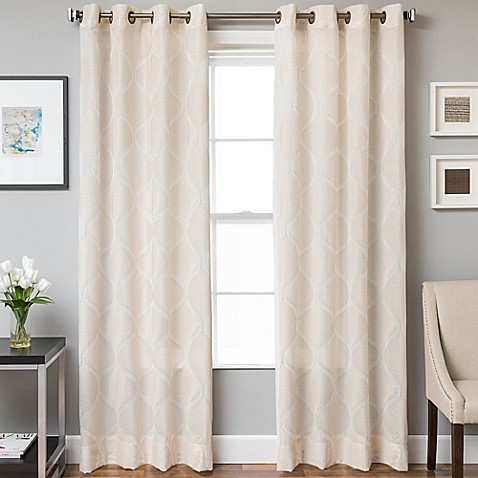 Buy Marlene Grommet Top 108 Inch Window Curtain Panel In White From Bed Bath Beyond