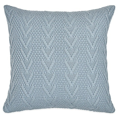 Light Blue And Gold Throw Pillows : Buy Flatiron Home Cable Knit Square Throw Pillow in Light Blue from Bed Bath & Beyond