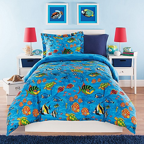 Under The Sea Reversible Comforter Set Bed Bath Amp Beyond