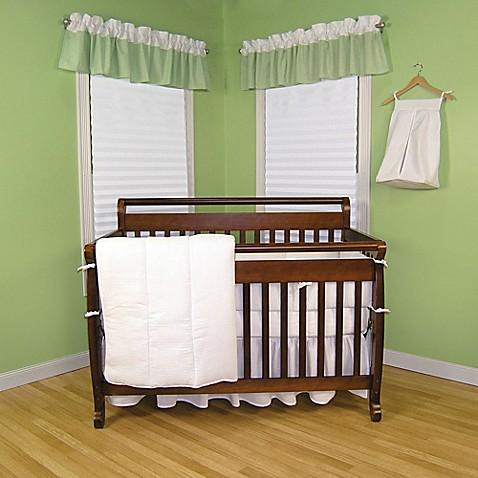 Trend Lab 174 Pique 3 Piece Crib Bedding Set In White