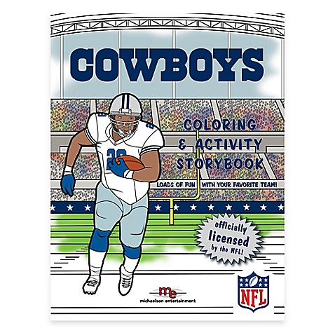 nfl� coloring and activity storybook gt nfl� dallas cowboys