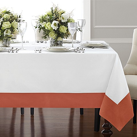 Wamsutta Bordered Linen Tablecloth Bed Bath amp Beyond