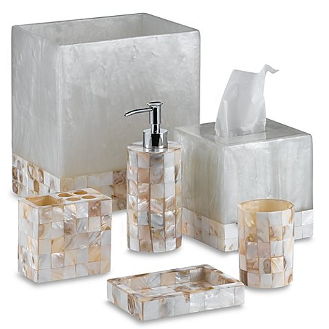 Capiz bathroom tumbler bed bath beyond for Bathroom tumbler