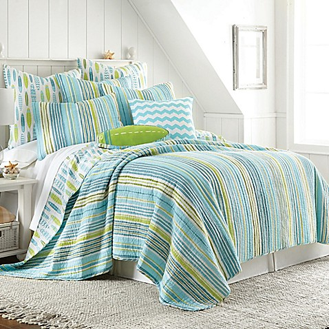 beach break reversible quilt in blue bed bath beyond. Black Bedroom Furniture Sets. Home Design Ideas