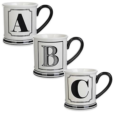 Formations Block Letter Monogram Mug at Bed Bath & Beyond in Cypress, TX | Tuggl