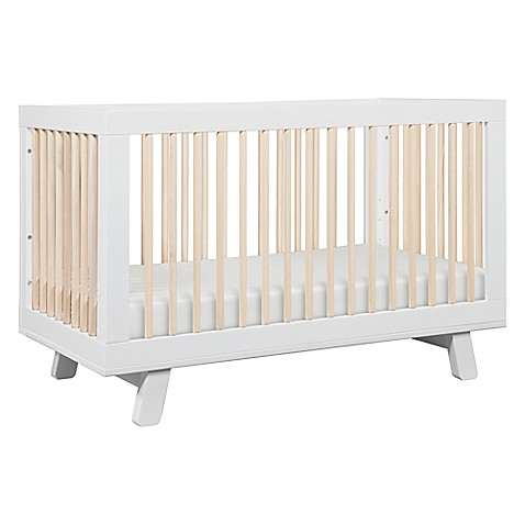 Babyletto Hudson 3 In 1 Convertible Crib In White/Washed Natural by Bed Bath And Beyond