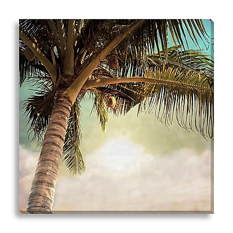 vintage palm tree ii extra large canvas wall art bed bath beyond. Black Bedroom Furniture Sets. Home Design Ideas