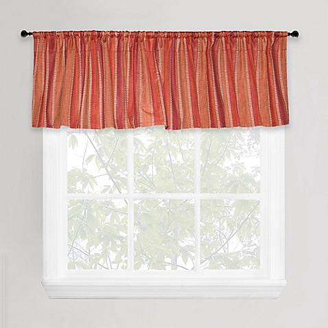park b smith banyon window valance in red orange bed bath beyond. Black Bedroom Furniture Sets. Home Design Ideas