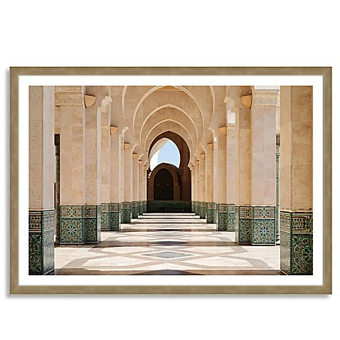 arcade of hassan ii mosque extra large horizontal framed. Black Bedroom Furniture Sets. Home Design Ideas