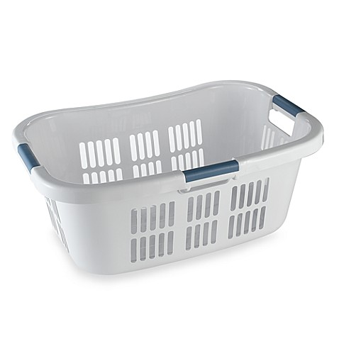 The best laundry basket out there is the Sterilite Stacking Laundry Basket. It holds a full week's worth of laundry, is easy to carry with the attached handles and can stack to make sorting easier. It holds a full week's worth of laundry, is easy to carry with the attached handles and can stack to make sorting easier.