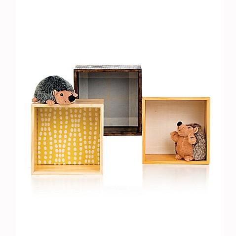 Glenna jean brea cube wall art in citrine set of 3 buybuy baby - Cube wall decor ...